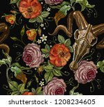 gothic romanntic embroidery... | Shutterstock .eps vector #1208234605