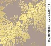 elegant golden pattern with... | Shutterstock .eps vector #1208235445