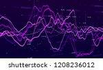 stock market graph. big data... | Shutterstock . vector #1208236012