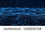 wave of particles. futuristic...   Shutterstock . vector #1208236768