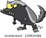 angry cartoon badger | Shutterstock .eps vector #120824386