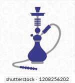 blue hookah  nargile  hubbly... | Shutterstock .eps vector #1208256202