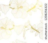 elegant golden pattern with... | Shutterstock .eps vector #1208256322