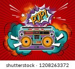 vintage bright recording... | Shutterstock .eps vector #1208263372