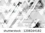 seamless grunge tech geometric... | Shutterstock .eps vector #1208264182