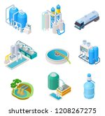 water purification technology.... | Shutterstock .eps vector #1208267275