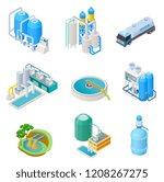water purification technology.... | Shutterstock .eps vector #1208267275