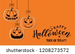 halloween greeting card or... | Shutterstock .eps vector #1208273572