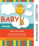 cute baby shower card with...