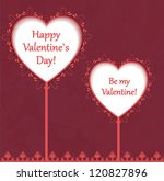 vintage love card with hearts... | Shutterstock .eps vector #120827896