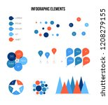 ads rating visualisation... | Shutterstock .eps vector #1208279155