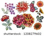 set with traditional asian... | Shutterstock . vector #1208279602