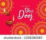 happy bhai dhooj  colorful... | Shutterstock .eps vector #1208280385