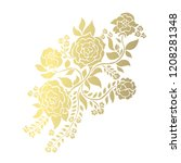decorative rose flowers  design ... | Shutterstock .eps vector #1208281348