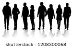 vector silhouettes men and... | Shutterstock .eps vector #1208300068