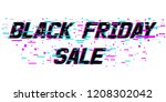 background black friday sale.... | Shutterstock .eps vector #1208302042