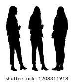 vector silhouettes women... | Shutterstock .eps vector #1208311918