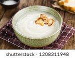 fresh homemade cream of... | Shutterstock . vector #1208311948