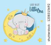 little prince elephant | Shutterstock .eps vector #1208315692