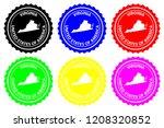 virginia   rubber stamp  ...   Shutterstock .eps vector #1208320852