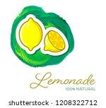 summer lemonade poster design... | Shutterstock .eps vector #1208322712