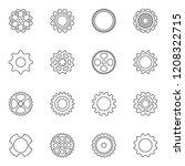 black thin line vector cog... | Shutterstock .eps vector #1208322715