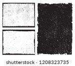 vector grunge frames.grunge... | Shutterstock .eps vector #1208323735