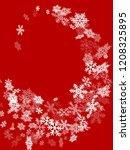 snow flakes falling macro...   Shutterstock .eps vector #1208325895