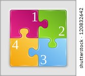 square made of puzzle pieces... | Shutterstock .eps vector #120832642
