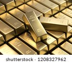 Stock photo gold bars and financial concept d rendering conceptual image 1208327962