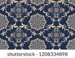 seamless luxury floral pattern... | Shutterstock .eps vector #1208334898
