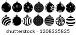 set of christmas balls... | Shutterstock .eps vector #1208335825