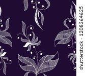 decorative tendril seamless... | Shutterstock .eps vector #1208364625