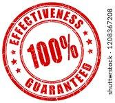 effectiveness 100 guaranteed... | Shutterstock .eps vector #1208367208
