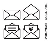 envelope icon in trendy flat... | Shutterstock .eps vector #1208370988