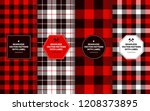lumberjack seamless patterns... | Shutterstock .eps vector #1208373895