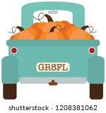 Teal Pumpkin Truck Fall Autumn