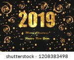 new year and christmas festive... | Shutterstock .eps vector #1208383498
