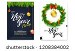 set of posters for happy new... | Shutterstock .eps vector #1208384002