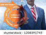 concept of circular economy... | Shutterstock . vector #1208391745