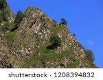 stone ledge of a rocky ridge...   Shutterstock . vector #1208394832