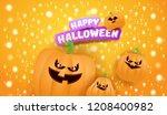 halloween horizontal web banner ... | Shutterstock .eps vector #1208400982