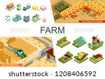 isometric agriculture elements... | Shutterstock .eps vector #1208406592