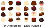 beautiful big set colorful... | Shutterstock .eps vector #1208408065