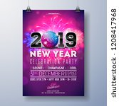 new year party celebration...   Shutterstock .eps vector #1208417968