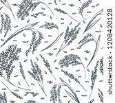 rice cereal ears  vector... | Shutterstock .eps vector #1208420128