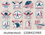 set of baseball or softball... | Shutterstock .eps vector #1208421985