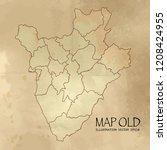 burundi  on the map of balkans... | Shutterstock .eps vector #1208424955