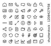 universal icons for mobile app | Shutterstock .eps vector #1208427958