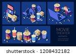 cinema set. illustrations for... | Shutterstock .eps vector #1208432182